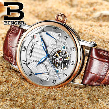 Switzerland BINGER Tourbillon Mechanical Watch Men Sapphire