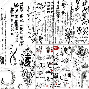 Black Inspired Quotes Temporary Tattoo Stickers For Kids Children Women Body Art Tattoo Paper Small Fonts Words Sexy Tatoo Girl Buy At The Price Of 0 71 In Aliexpress Com Imall Com