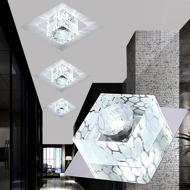 Modern Crystal Ceiling Light 85V-265V 3W/5W Lamp LED Home Decoration Lamps Simple Lights Bedroom Foyer Hallway Fixtures CL153 creative star moon lampshade ceiling light 85 265v 24w led child baby room ceiling lamps foyer bedroom decoration lights