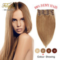 Virgin Brazilian Hair Clip In Human Hair Extensions 7pcs Full Head Set Remy Human Hair Clips Aplique Tic Tac Cabelo Humano