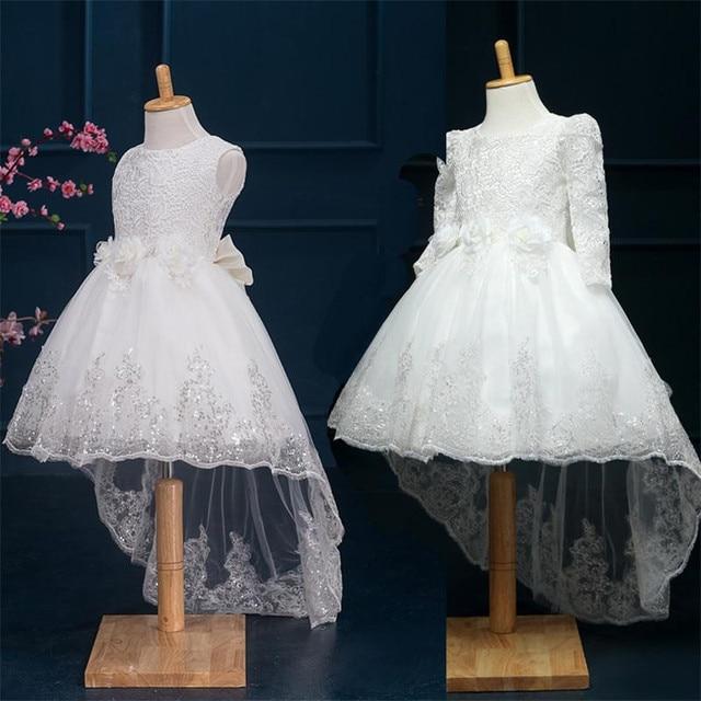 39cdec3ff45 Été enfant partie broderie fleur fille robe de mariage pour les adolescents  porter élégant floral princesse