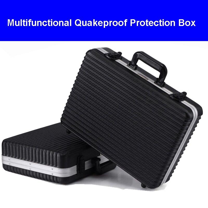 Mallette à outils en aluminium de haute qualité valise boîte à outils boîte à outils étui de protection résistant aux chocs sac photo avec doublure en mousse coupée