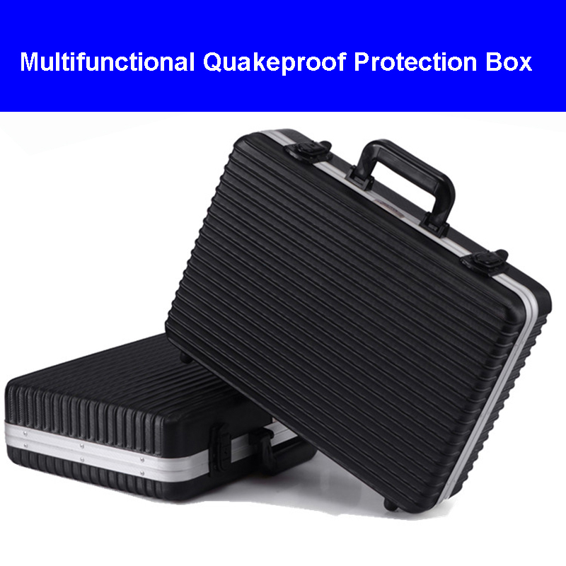 High Quality Aluminum Tool Case Suitcase Toolbox File Box Impact Resistant Protective Case Camera Bag With Cut Foam Lining