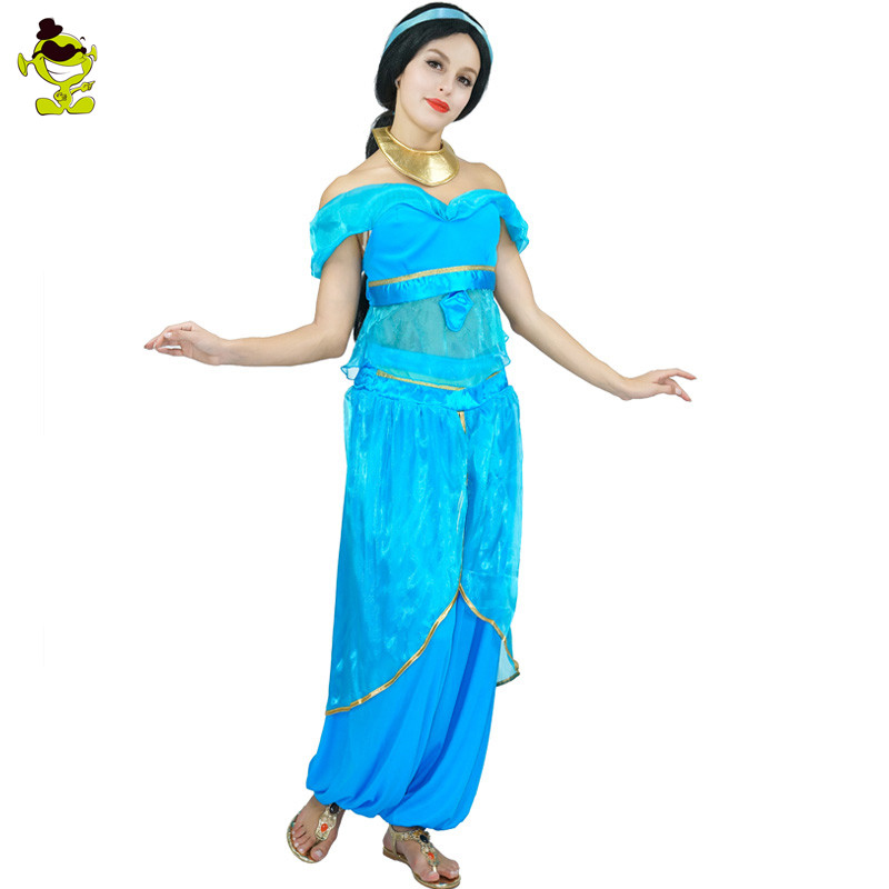 d3663cae2a48d US $31.58 11% OFF|Arabian Night Costume Vintage Arab Dubai Women's Summer  Dress Carnival Halloween Costumes Belly Dance Cosplay on Aliexpress.com |  ...
