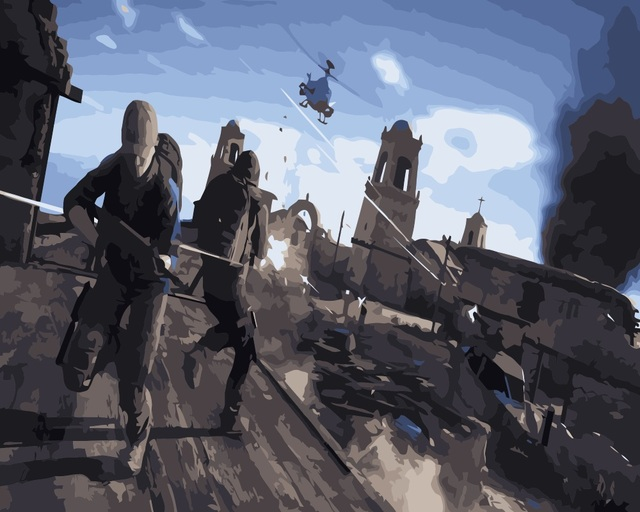 Mahuaf I415 Pelangi Enam Siege Lukisan By Nomor Dilukis Tangan