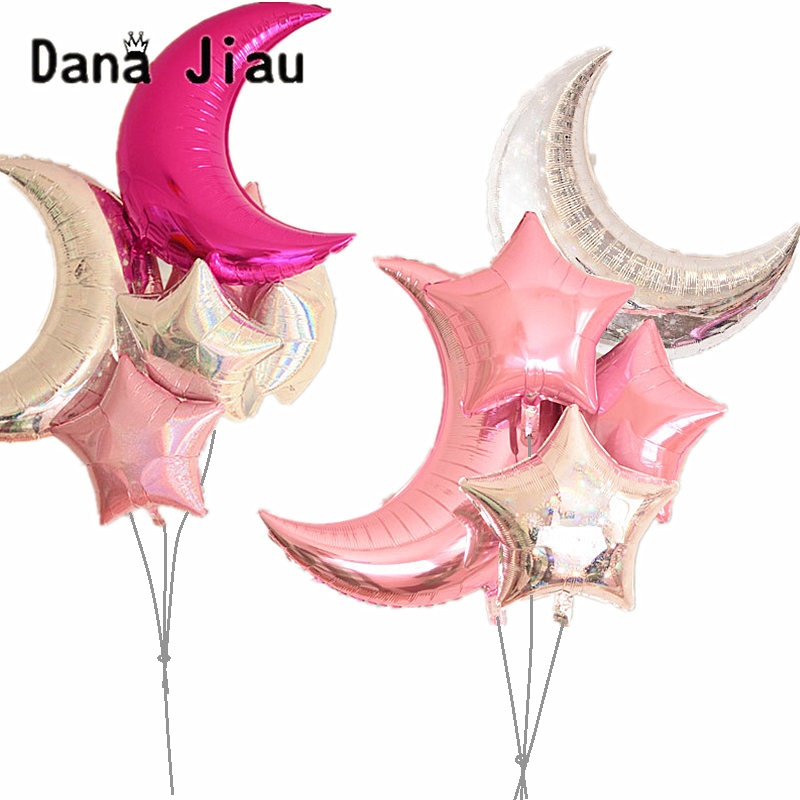 18inch Pentagram Foil Balloon Birthday Party Wedding Decoration Holiday Star Auto-seal Foil Balloons Kids Toy Ball Supplier