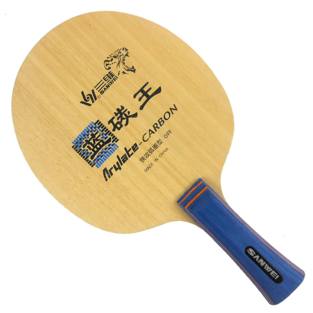 Original Sanwei F3 Arylate-Carbon King F 3 F-3 table tennis pingpong blade недорго, оригинальная цена