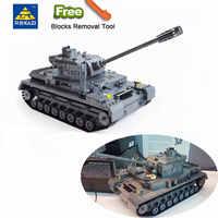 995 pièces militaire allemand roi tigre réservoir Panzer IV réservoir blocs de construction compatibles LegoINGlys armée WW2 soldat arme brique jouets