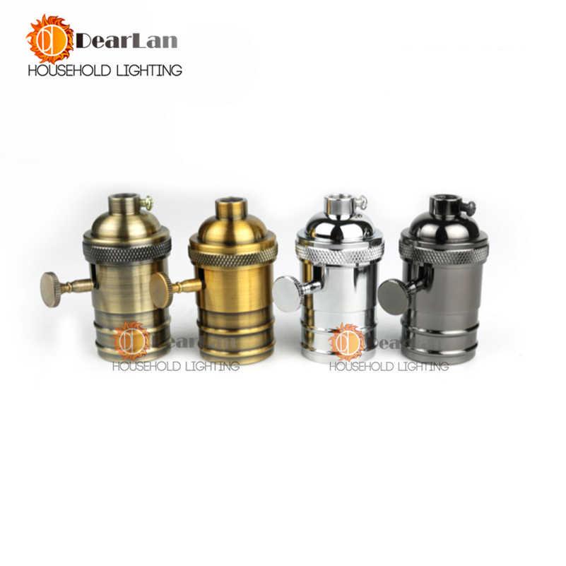 E26/E27 Bulbs Bases Retro Light Socket Vintage Metal Lamp Holder,Vintage Screw Copper Lamp Holder,4 Models For Choice(PG-50)
