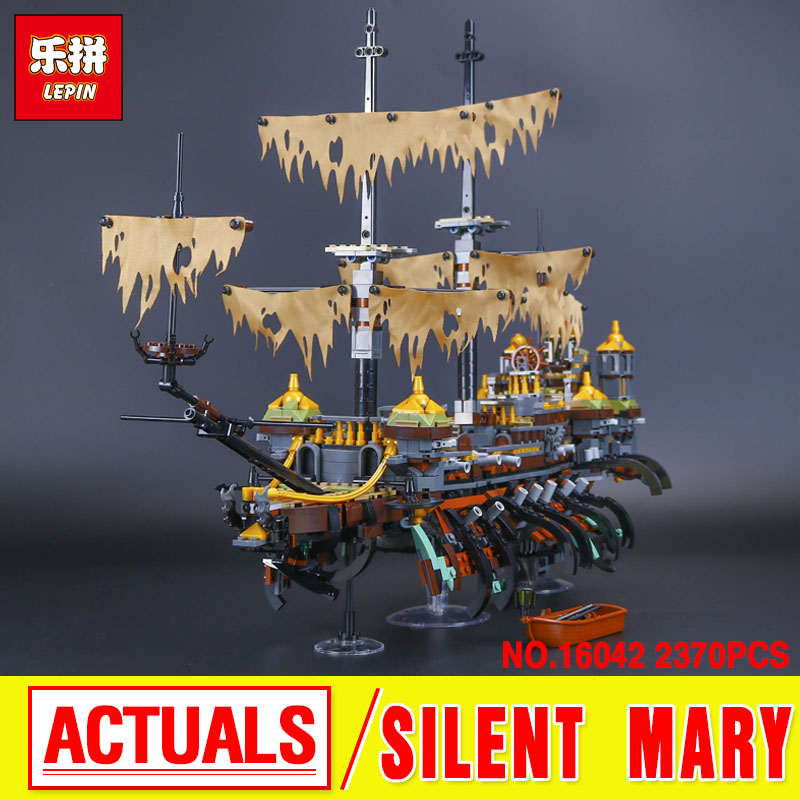 Lepin 16042  New Pirate Ship Series The Slient Mary Set Children Educational Building Blocks Bricks Toys Model funny Gifts 71042 kazi building blocks toy pirate ship the black pearl construction sets educational bricks toys for children compatible blocks