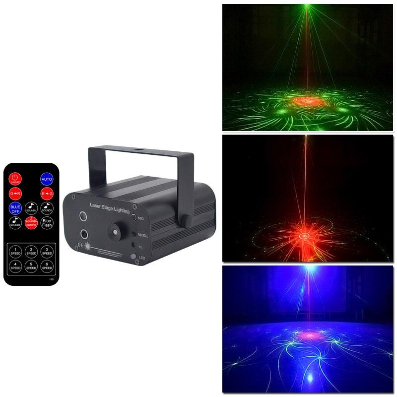 YSH dj light Laser Disco Lighting effect Mini Projector Light stobe led bar Party Lights Projector