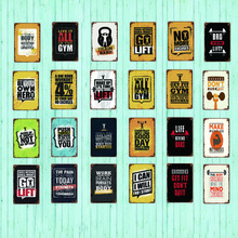 live It all in the Gym  Family Rules Metal Tin Sign Vintage Plates For Wall Pub Home Art Retro Bar Decoration SA-4743 поло print bar violator live