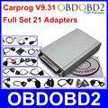 Más nuevo CARPROG Set Completo V9.31 Programador Auto Reparación Airbag Restablecer herramientas Del Coche Prog ECU Chip Tuning Completo 21 Adaptadores Libres nave