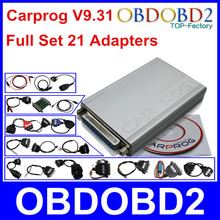 Neueste Volles Set V9.31 Programmierer Auto Reparatur Airbag Reset werkzeuge Auto Prog ECU Chip Tuning Volle 21 Adapter Freies schiff