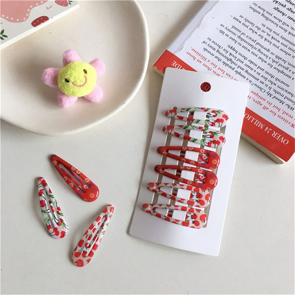 2/6PCS New Cute Cartoon Metal Printing Colour Animal Baby BB Clips Girls Hairpins Hair Clip Kids Headwear Children Accessories