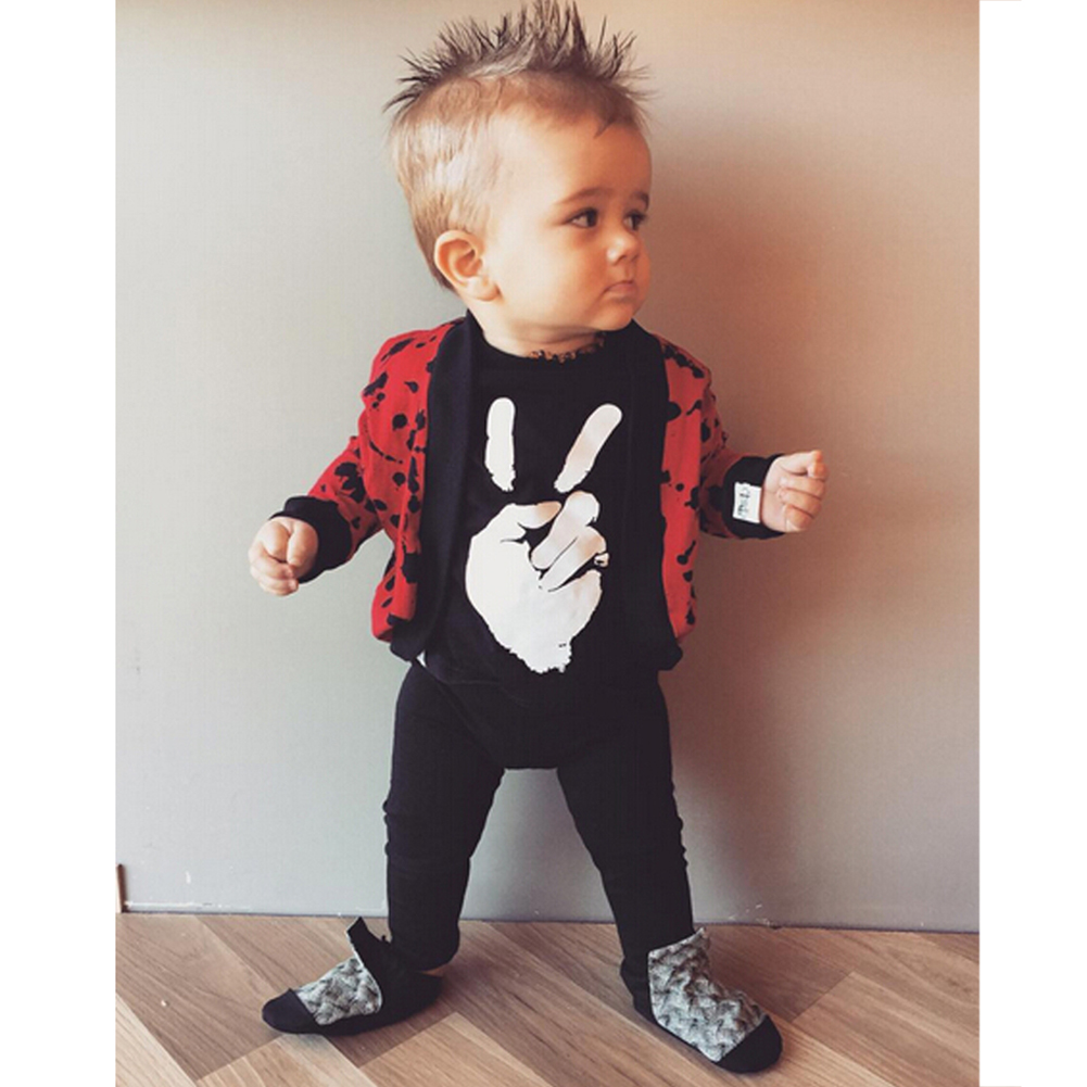Baby Boys Girls Black Long Sleeve Romper Spring Autumn Clothes Hand Printed Kids Casual Rompers Jumpsuit Outfits One-piece maggie s walker baby boys and girls clothes toddler pure cotton jumpsuit kids romper children spring autumn winter long sleeve