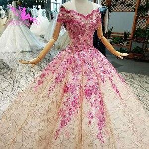 Image 4 - Aijingyu 슬리브 웨딩 드레스 국가 가운 아름다운 판매 여성 아랍어 3d 화이트 가운 싱가포르 얇은 명주 그물 드레스