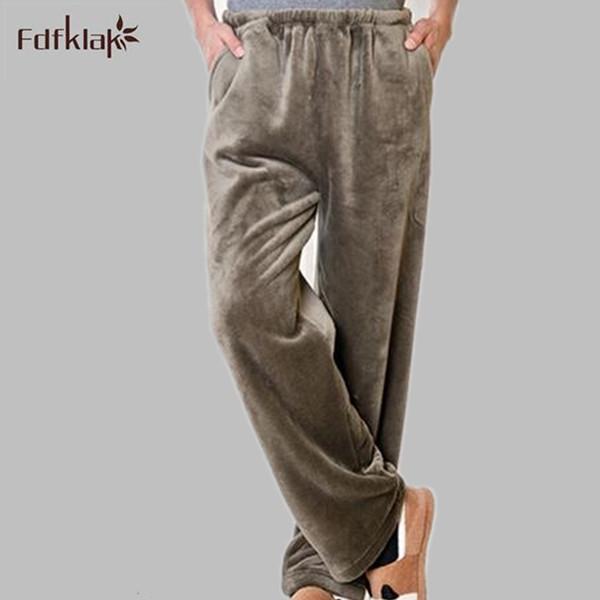 2016 nueva otoño invierno pantalones de pijama mujer y hombre pijamas pantalones de las mujeres pantalones de pijama ropa de dormir de franela engrosamiento Q722 muzhskaya