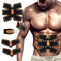 Rechargable Abdominal Muscle Toner Wireless Electric Stimulator Massager Back Pain Relief ABS Fit Smart EMS Muscle