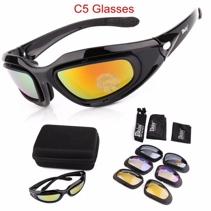 Army Goggles Solbriller Mænd Militære Solbriller 4 Lins Kit For - Cykling - Foto 2