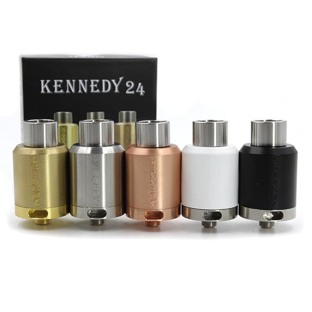 Mais novo Kennedy 24 Atualização Kennedy RDA Atomizador 22 Atomizador Vaporizador 24mm Deck Inferior Airflow 510 Tópico Cigarro e Tanque