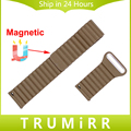 22mm faixa de relógio de couro genuíno cinta fivela magnética para asus ZenWatch 1 2 Homens WI500Q WI501Q Pulso Cinto de Liberação Rápida pulseira
