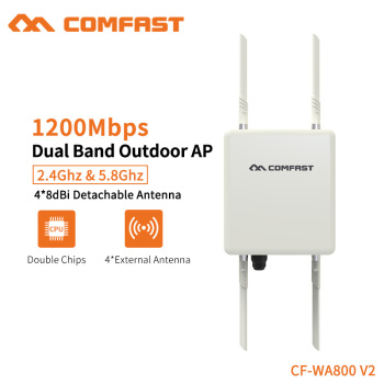 Comfast 1200Mbps Dual Band 2.4/5.8GHz Outdoor AP Strong Signal Built in Watchdog Chip AC Management Plug and Play CF-WA800 V2