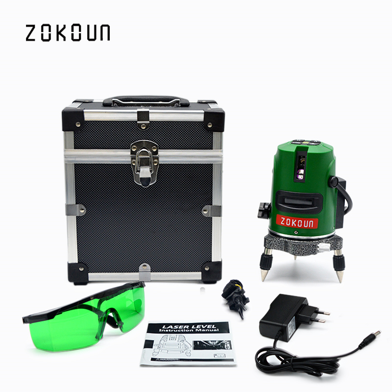 EU plug 2 Lines 1V1H Slash Function Vertical Horizontal Self leveling Cross Lazer Level Tools GREEN Cross Line Laser kacy al04 laser level 2 line rotary 360 leveling 1v1h horizontal and vertical cross lazer levels lines excluding tripod