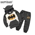 Batman conjunto de bebê meninos roupas definir crianças hoodies calças engrosse inverno quente conjuntos de roupas das meninas dos meninos 2015 outono nova chegada