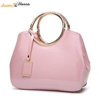 Round Handle Women Handbags Solid Color PU Leather Female Shoulder Bag Zipper Crossbody Party Bags Ladies