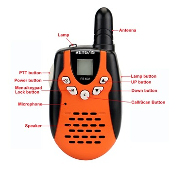 2pcs Rechargeable Walkie Talkie For Kids Retevis RT602 Walky Talky For Children 0.5W PMR Talkie-walkie with Battery Xmas Gift 1