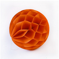 6pcs 8'' 20cm Orange Paper Honeycomb Party DIY Wedding Decoration 12 Colors