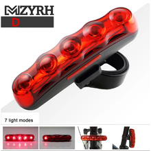 MZYRH Bicycle Rear Tail Light Red LED Flash Lights Cycling Night Safety Warning Lamp Bike Outdoor Riding Tail Light Accessories