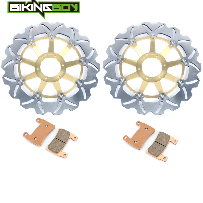 BIKINGBOY for HONDA CBR600F 99 00 CBR 600 SuperSport F4 1999 2000 Front Brake Discs Rotors Disks Pads Motorcycle Accessories