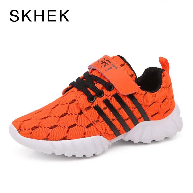 SKHEK Children Shoes Boys Sneakers Girls Sport Shoes Child Students Trainers Outdoor Breathable Kids Jogging Shoe Red ...