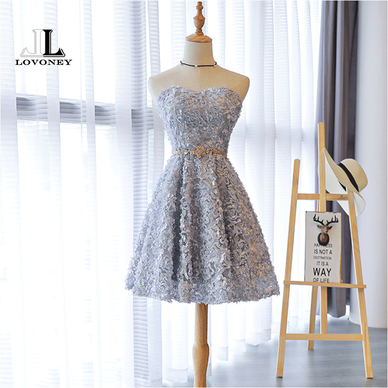 LOVONEY XYG806 A-Line Sweetheart Cocktail Dresses 2019 New Women Special Occasion Party Dresses Prom Gown vestidos de coctel