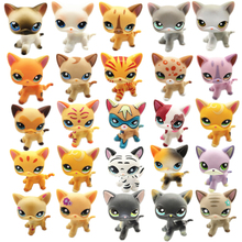 Raro Lps mascota tienda de juguete envío gratis gato corto marrón Gran Dane soporte acción figura colección 41 estilo niños regalo