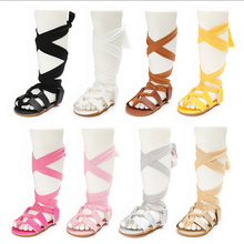 Leather Bandage Sandals Shoes Baby Newborn Infant Baby Girl Boys Soft Flat Sandals Pram Sandal Shoes