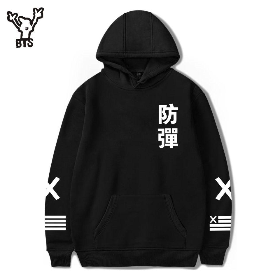 BTS Kpop Women Hoodies Sweatshirt Autumn Fashion K-pop Female Coat Hooded Sweatshirt Women Hoodies Popular Hip Hop Fans Clothes
