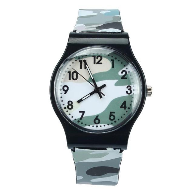 Kids Watches Montre Enfant Camouflage Children Watch Quartz Watch Fashion Wristwatch For Girls Boy #Zer