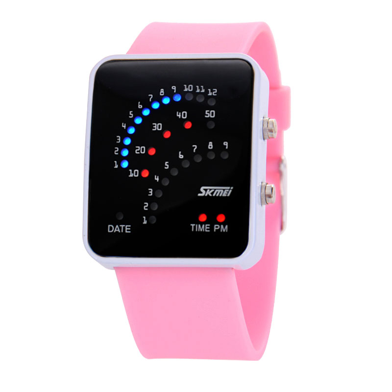 Watch waterproof electronic watch fashion led jelly table silica gel female form candy color watch
