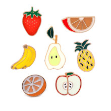 Fashion Pin Buah Strawberry Orange Pisang Peach Apple Pine Apple Bros Lencana Tombol Pin Denim Jaket Pakaian Tas Hadiah Perhiasan(China)
