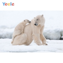 Yeele Vinyl Polar Bears Snow Children Birthday Party Photography Background Animals Baby Photographic Backdrop Photo Studio