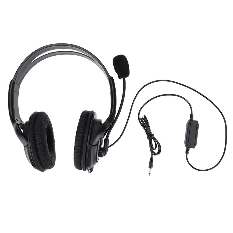 Universal 3.5mm Wired Headphone Video Games Gamer Headset Gaming Headphones with Microphone Volumn Control for Sony PS4