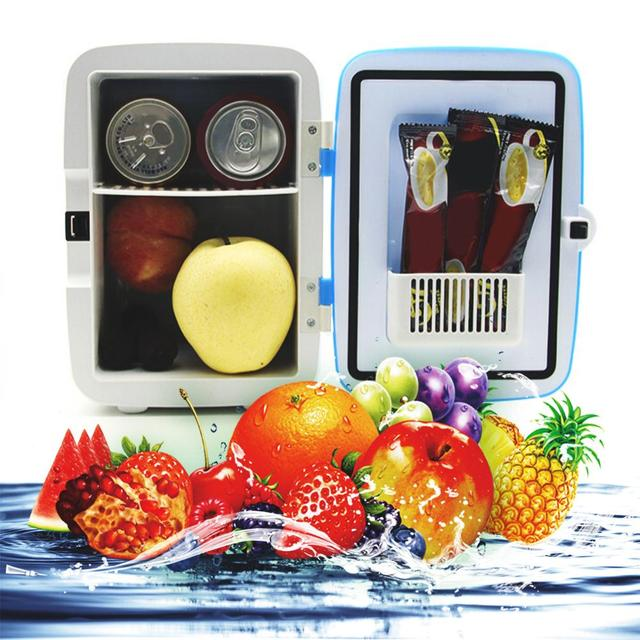 4L открытый мини небольшой автомобильный холодильник для дома двойного использования ABS портативный дорожный морозильник