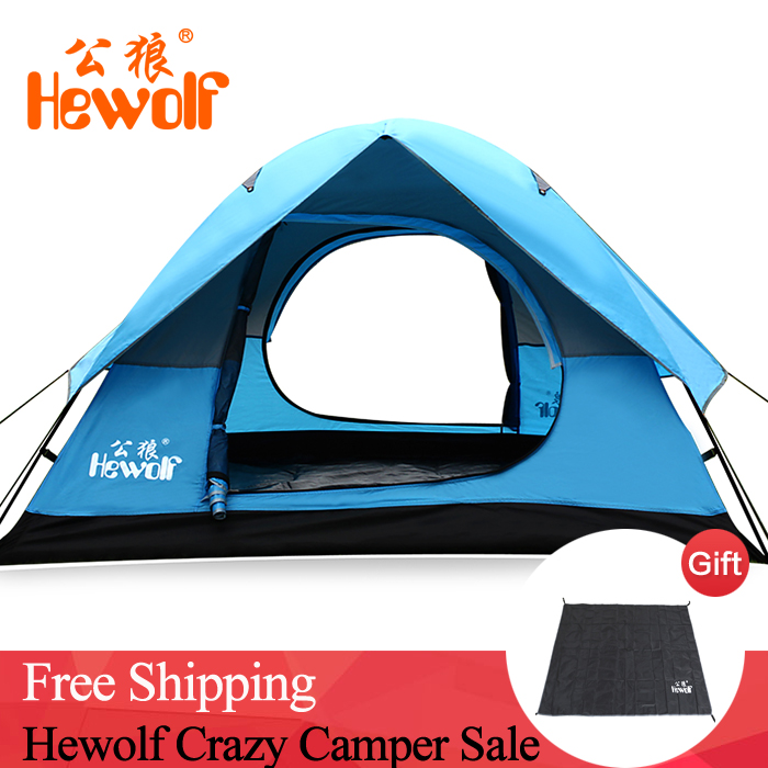 Outdoor Camping Tent 2 Person Waterproof Ultralight Family Tent for Camping & Fishing & Beach Camping Tent 200cm*148cm*110cm