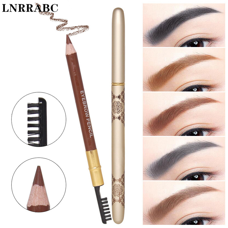 Hot 2018 New Professional Eyebrow Pencil With Brush Women Make up Tools Double Head Cosmetics Waterproof Not blooming