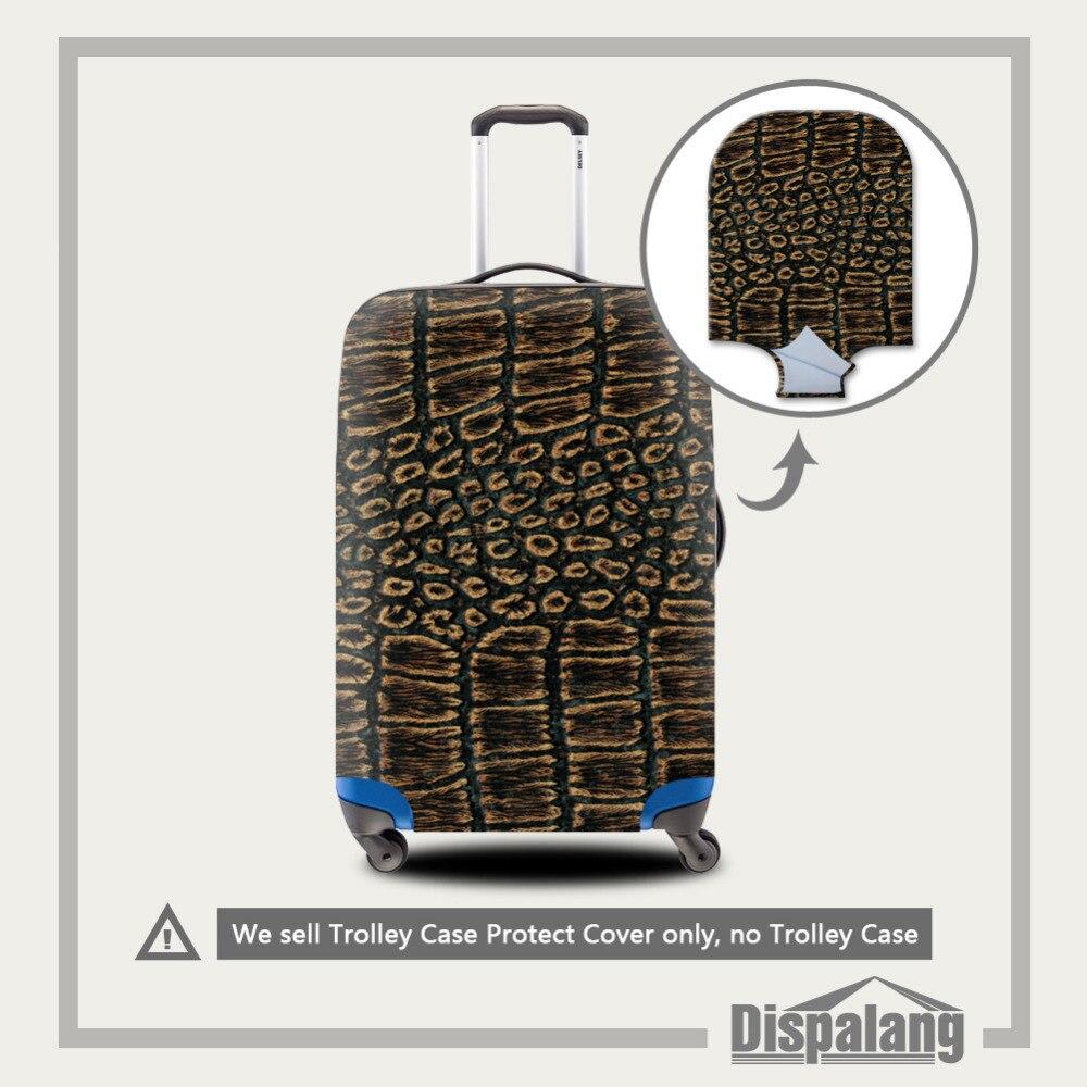 Змеиный принт эластичный стрейч путешествия Чемодан Защитная крышка относятся к 18 до 30 дюймов Чехол Туристические товары чемодан Крышка