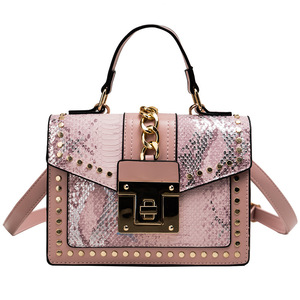 Image 3 - 2020 Design Handbags High Quality Ladies Shoulder Women PU Leather Zip Lock Small Chains  Flap Bags