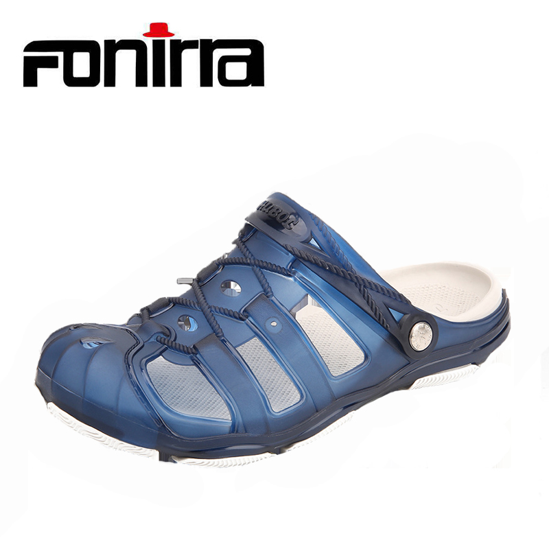2018 Summer Jelly Shoes Men Sandals Breathable Lighted Outdoor Slip On Men Beach Shoes Leisure Men Shoes Sandals FONIRRA 835